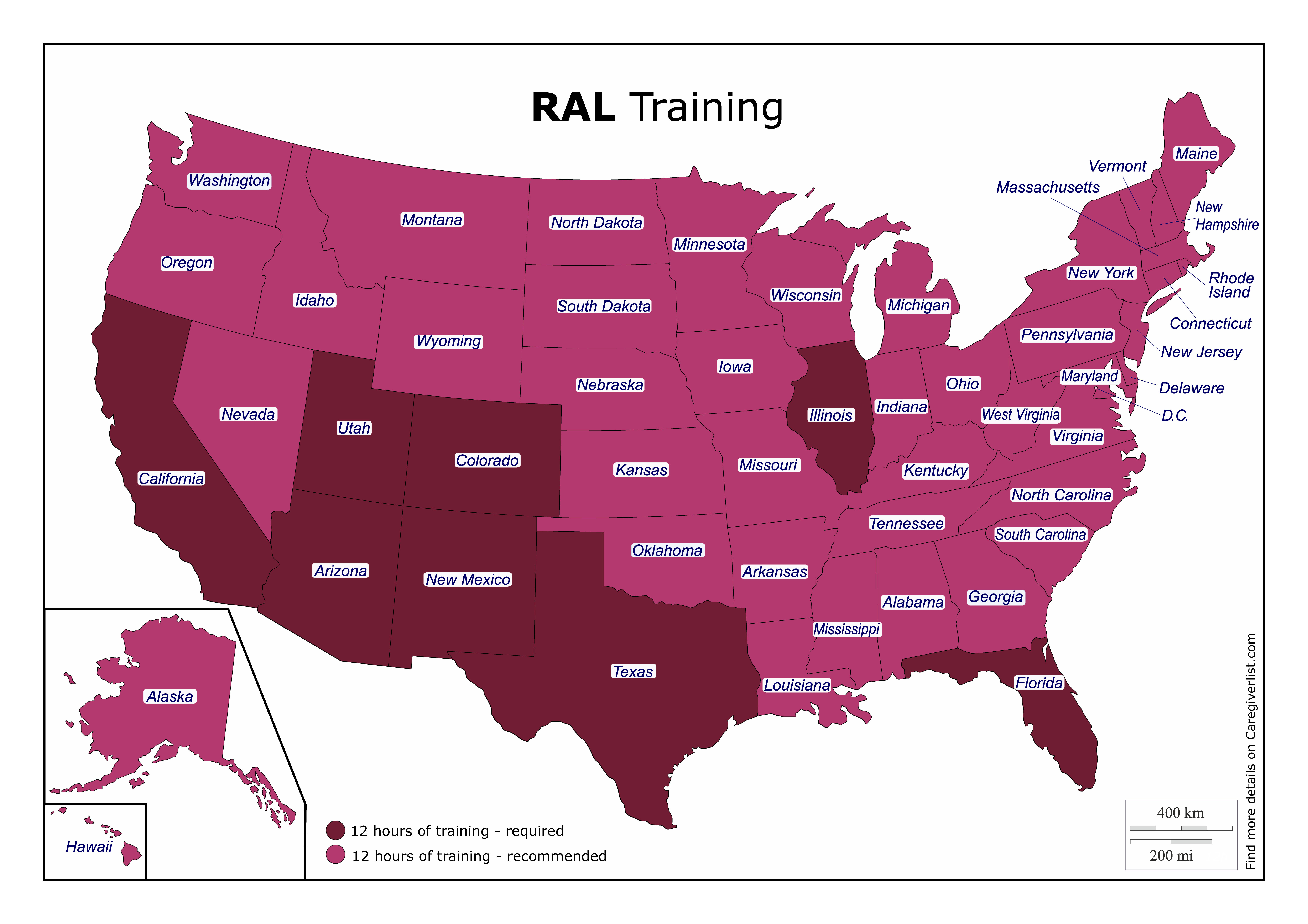 Residential Assisted Living Caregiver Training Map